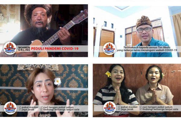 Artis Bali yang tergabung Pramusti Bali saat Menggelar Konser Online/inimusik
